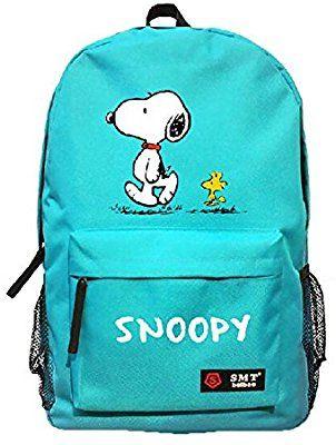 2145af62b4 Amazon.com  Creative Anime Snoopy Unisex Cavans Student s School Bag  Backpacks Leisure Bag Shoulder Backpack (blue)  Sports   Outdoors