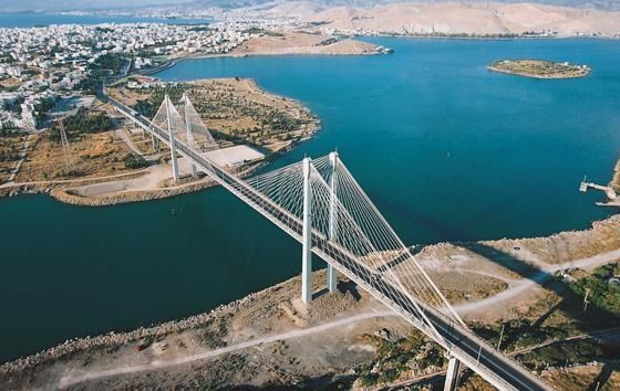 Halkida bridge,Evia,Greece.The largest  island connected to mainland with a bridge-hot spot for bungee jumpers.The nature and the beauty is so diverse that it is difficult to tell whether you are on an exotic island,a mediterrranean village or a mountain.You can reach it by road or by ferries.Surfing,snorkelling,diving,hiking in canyons,amidst picturesque villages, isolated beaches,busy night life, extraordinary gastronomy,proximity to Athens,Pilion mountain,Sporades isles.And low budget too