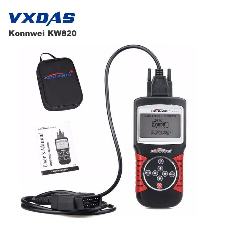 36.99$  Buy now - http://ali6oh.shopchina.info/go.php?t=32767045378 - KONNWEI KW820 Car Scanner EOBD OBD2 OBDII Diagnostic Tool Live Code Reader Support US/European/Asian Vehicle Powerful Than MS509  #bestbuy