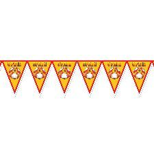 Spain Football Bunting 7ft x 12 inches. Bunting is always a popular choice of decoration for a football tournament. http://www.novelties-direct.co.uk/Spain-Football-Bunting.html