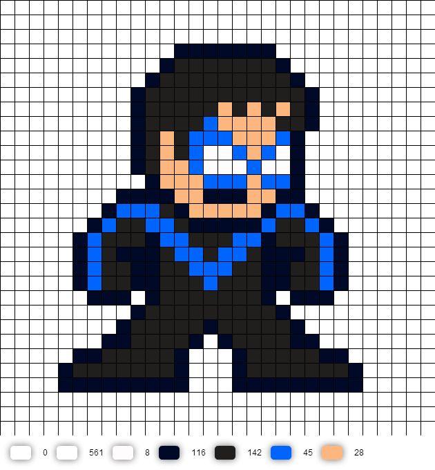 Nightwing  (updated) Perler Bead Pattern