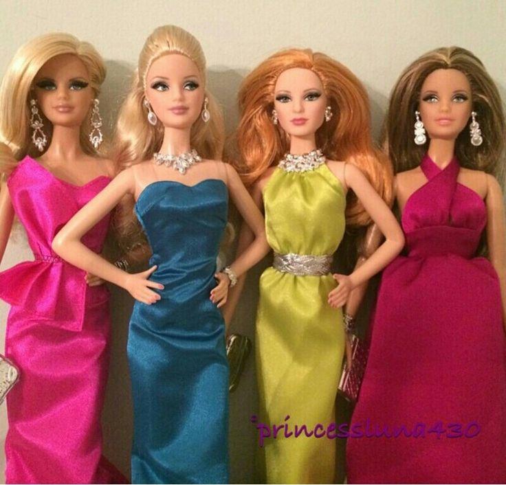 Red carpet yellow dress barbie