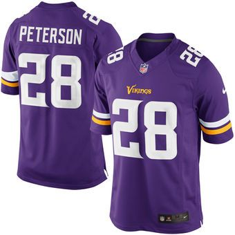 Adrian Peterson Minnesota Vikings Nike Team Color Limited Jersey – Purple