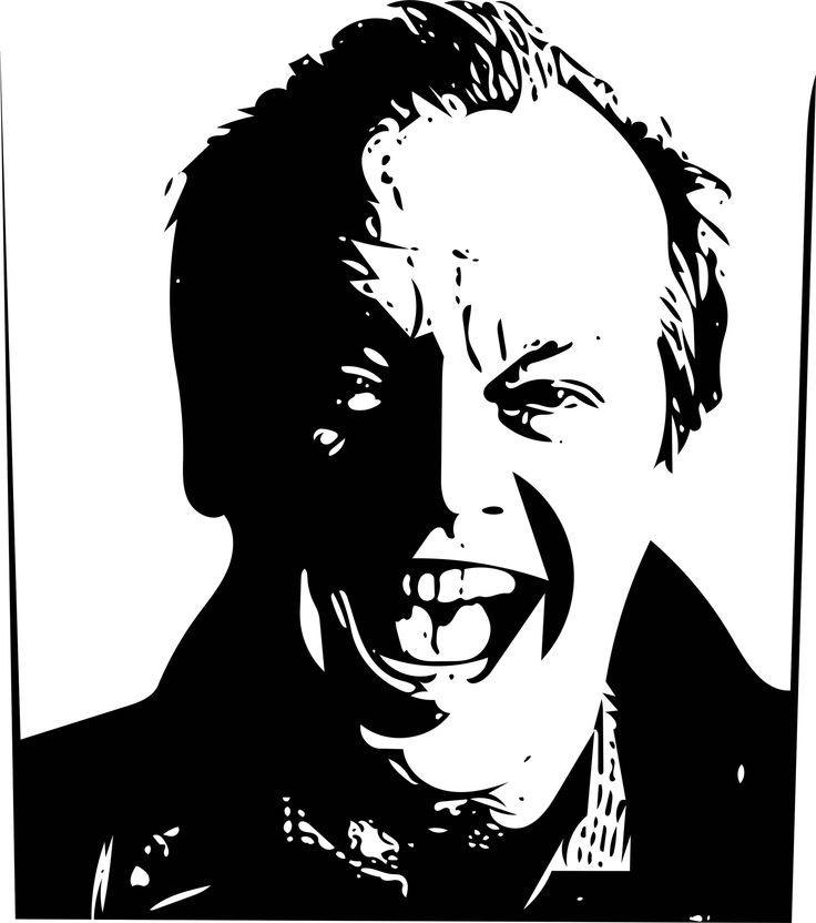 Jack Nicholson #portrait #vectorgraphic #blackandwhite