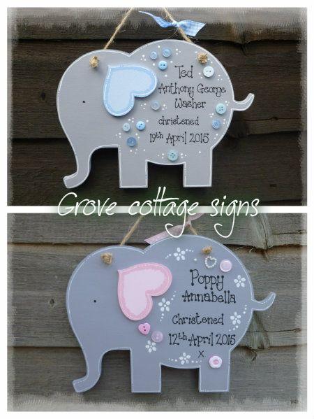 Nellies :) #grovecottage #handmade #hernebay #elephant #nellie #christening #giift #woodengifts #baby