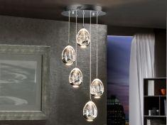 Lampade LED di 5 luci : collezione ROCIO - Collezione MEETY. Visita il nostro catalogo online dove potrete scoprire bellissimi design per il vostro arredamento. Top Home, il tuo negozio online. www.decorazioneon...