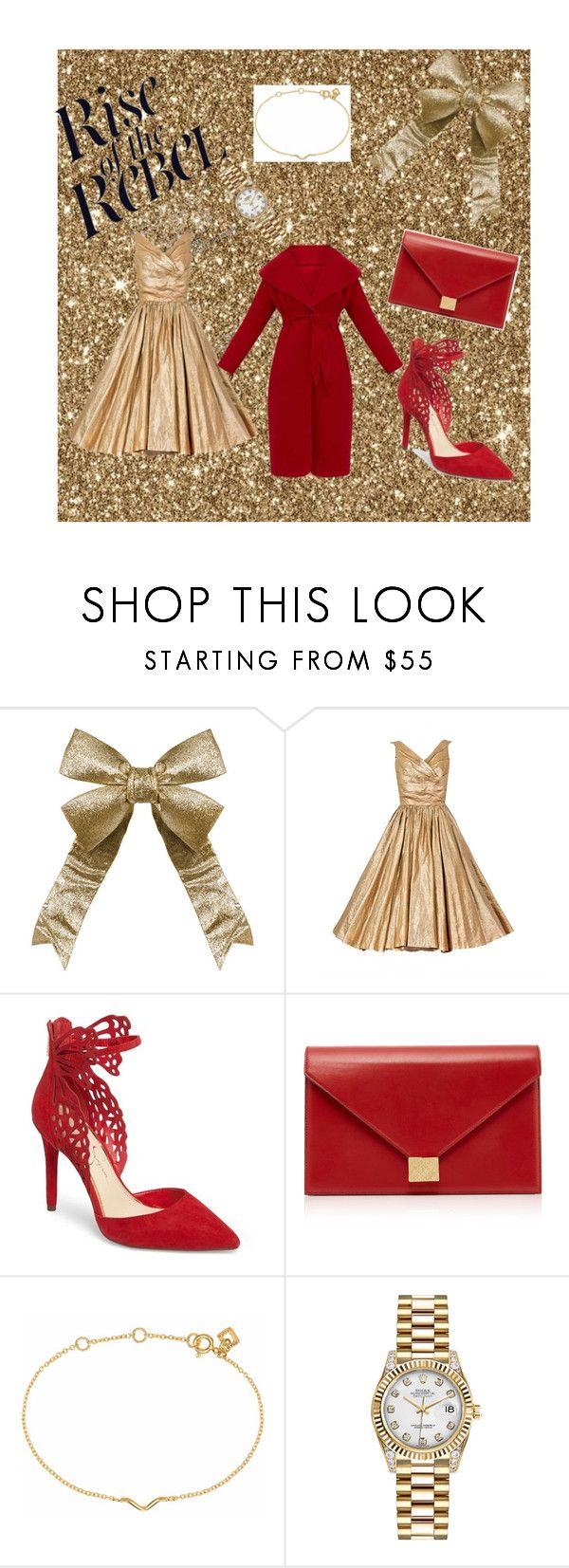 """""""Untitled #66"""" by almasamujkic ❤ liked on Polyvore featuring Jessica Simpson, Victoria Beckham, Maya Magal and Rolex"""