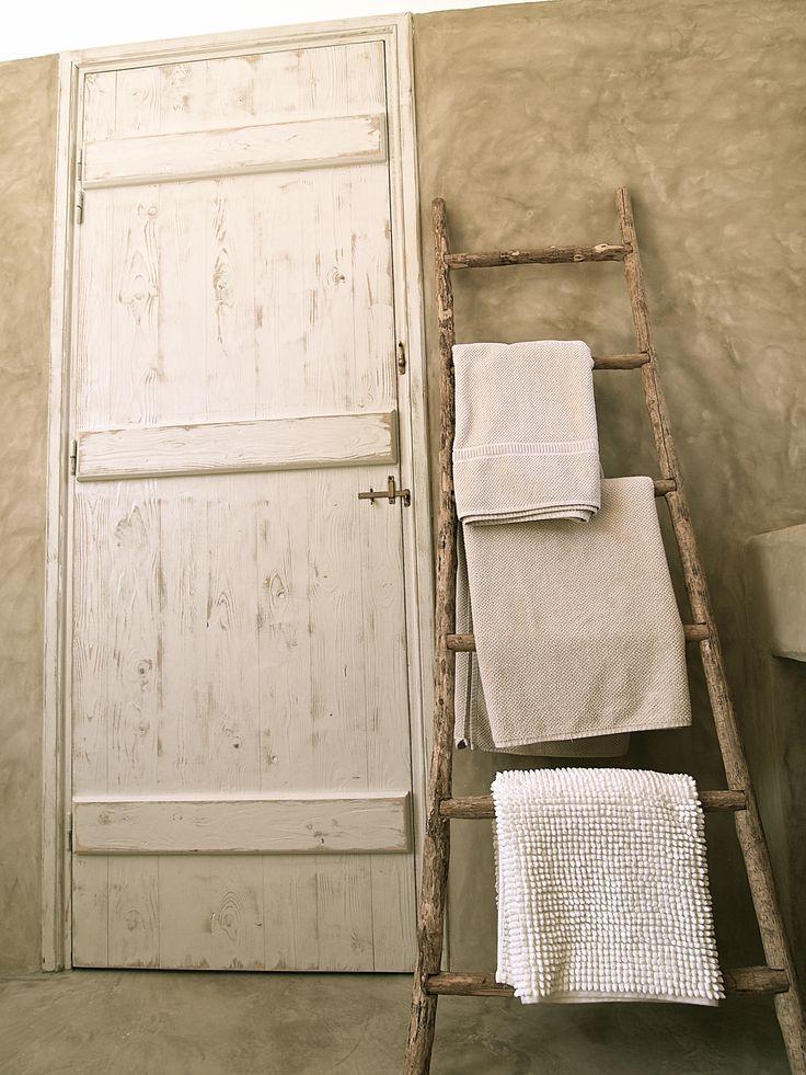St. Arsenios, Paros island, Greece. Cement mortar in a traditional built bathroom.
