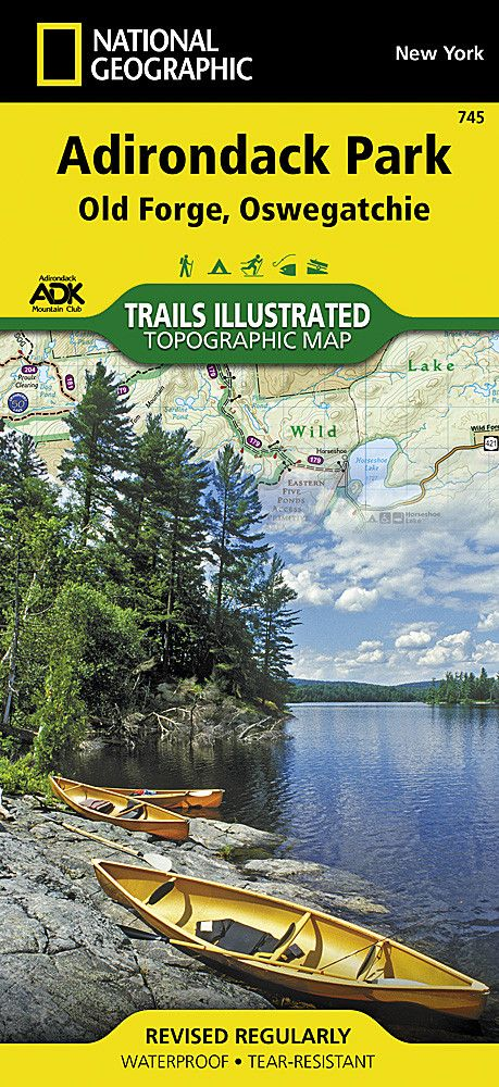 Adirondack Park, Old Forge and Oswegatchie, Map 745 by National Geographic Maps