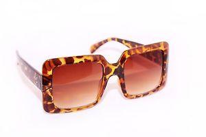 Oversized Designer Square Vintage Women's Sunglasses Brown Tortoise Gradient Len   eBay