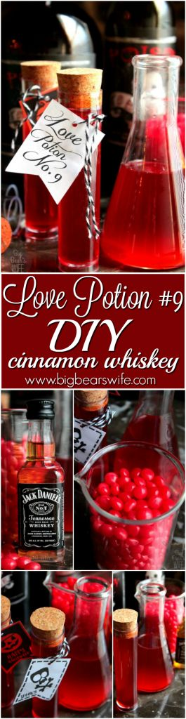 Homemade Fireball!!!   I think I might actually love this more than the cinnamon whiskey that you get from the ABC store! Plus I love that it's a fun Halloween drink! Perfect for our Halloween party!!   DIY Cinnamon Whiskey