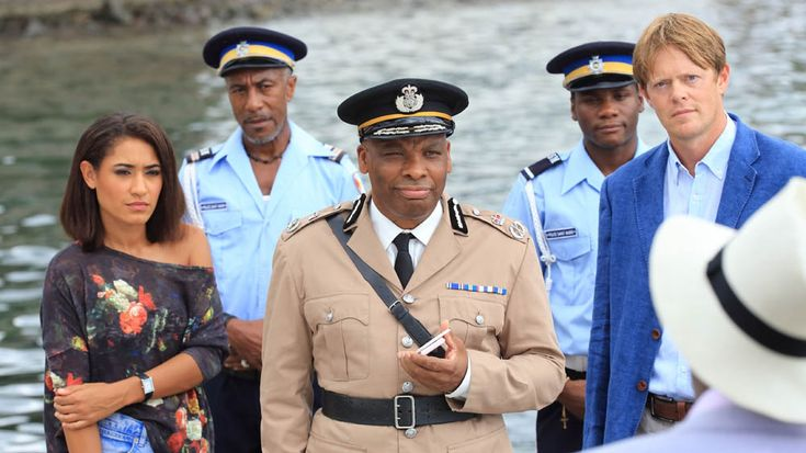 Death in Paradise: DS Florence Cassell, Officer Dwayne Myers, Commissioner Selwyn Patterson, Officer J.P. Hooper & DI Humphrey Goodman