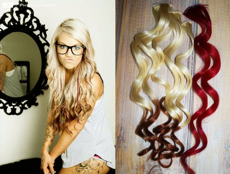 Valentine Sale, Reverse Ombre Hair Extensions, Two Freebie Red Mini Clips, Ombre clip in hair extensions, Dark Tip Hair Extensions by Cloud9Jewels on Etsy https://www.etsy.com/listing/122945969/valentine-sale-reverse-ombre-hair