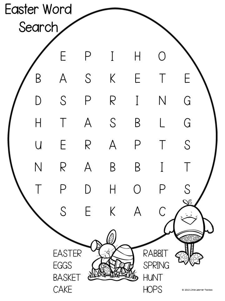Easter Wordsearch Freebie Easter games for kids, Easter