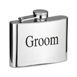 £10 4oz Hip Flask Groom, Best Man, Usher etc