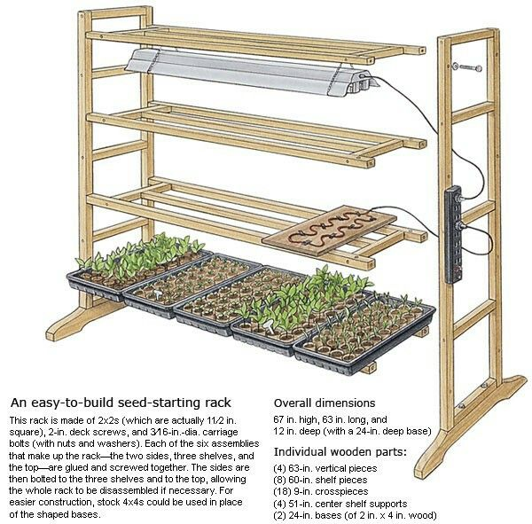 DIY - seed starting rack