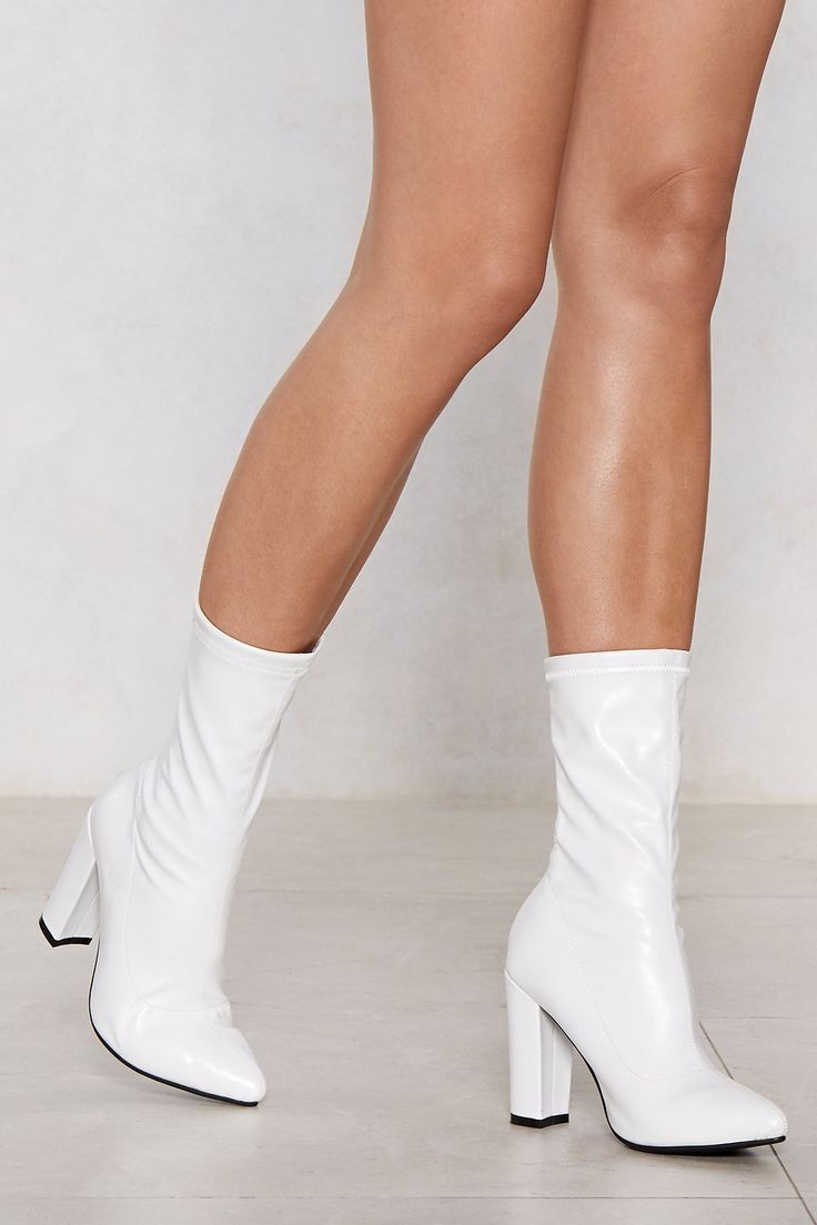 Put a Sock in It Heel Boot | Shop Clothes at Nasty Gal