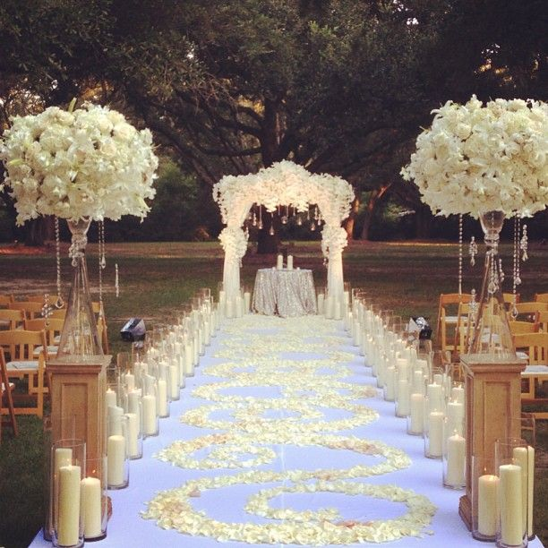 Best 25 wedding aisle candles ideas on pinterest winter for Aisle wedding decoration ideas