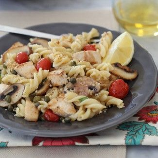 Chicken Piccata Pasta « Go Bold with Butter from foodiecrush.com