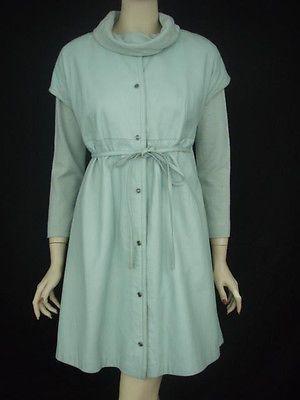 Bonnie-Cashin-Vintage-Sleeveless-Leather-Dress-with-Matching-Sweater-M-L