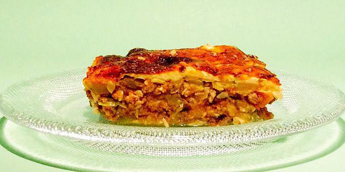 Μια απίθανη συνταγή για κολοκυθάκια σαν λαζάνια με κιμά και κρέμα γιαουρτιού Cooking&playing