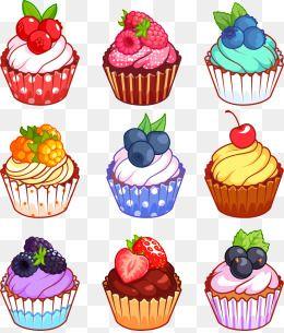 Vector Fruit Cupcake Cupcake Clipart Fruit Cupcakes Cup Cake Png