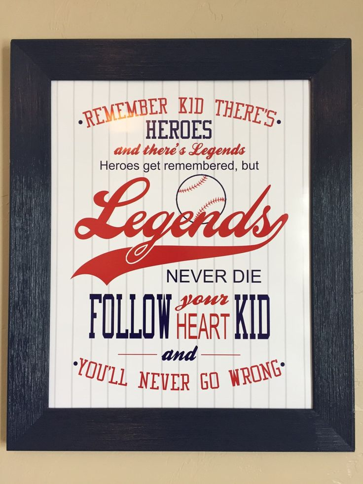 Sandlot Quote Poster by QuoteOnIt on Etsy
