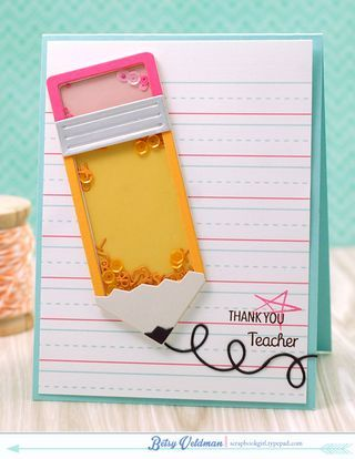 Teacher Thank You Card by Betsy Veldman for Papertrey Ink (April 2015)