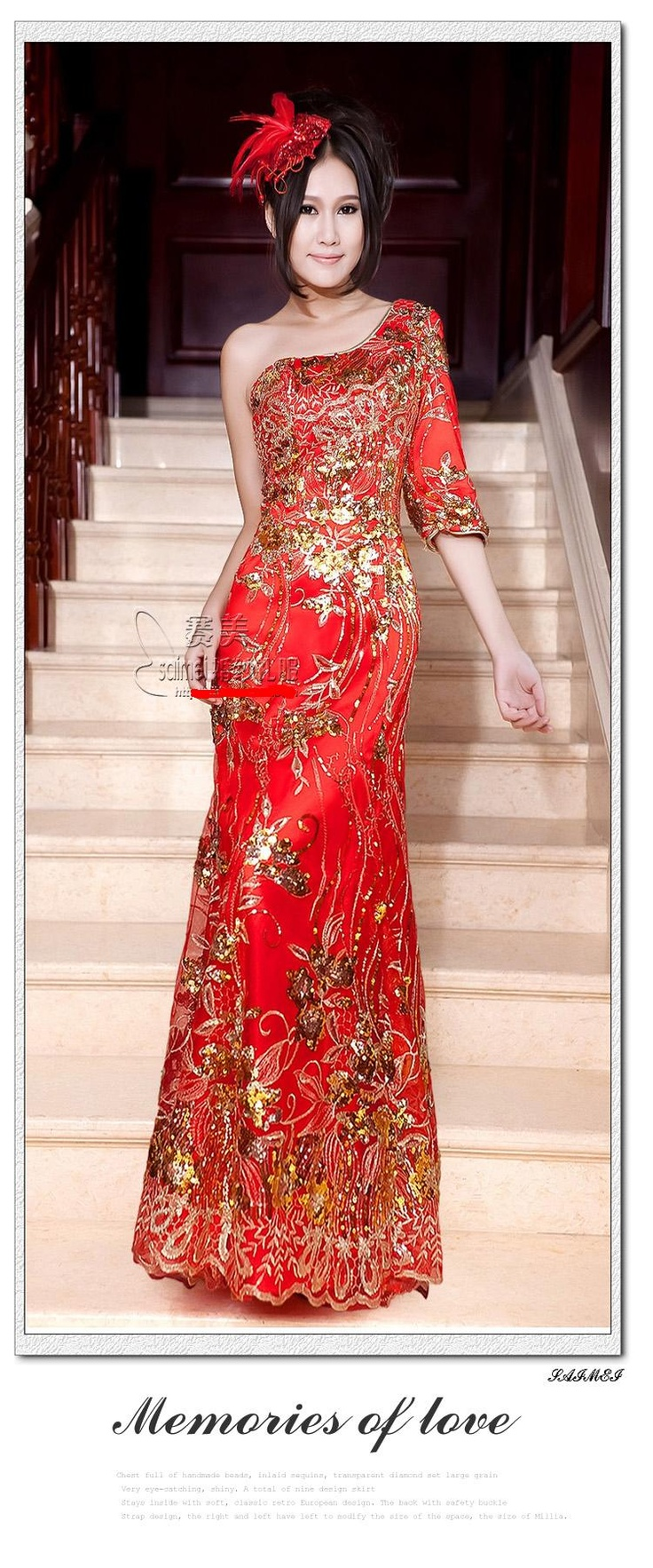 Nice Chinese wedding dress QiPao Kwa Cheongsam latest fashion Custom Make Avail