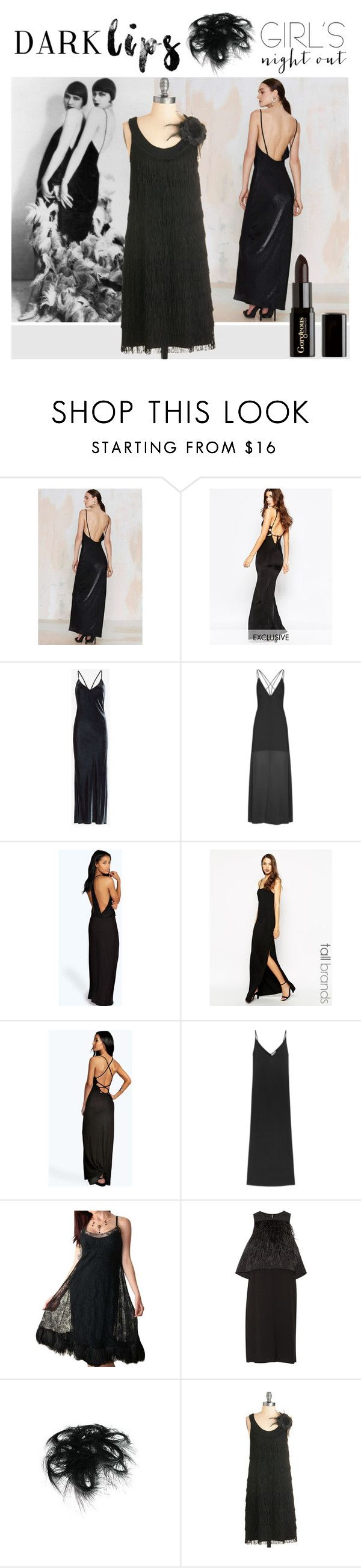 """Dare to Wear: Super Dark Lipstick"" by yours-styling-best-friend ❤ liked on Polyvore featuring beauty, Rise of Dawn, NaaNaa, Exclusive for Intermix, Topshop, Boohoo, TTYA, Equipment, Vintage and TIBI"