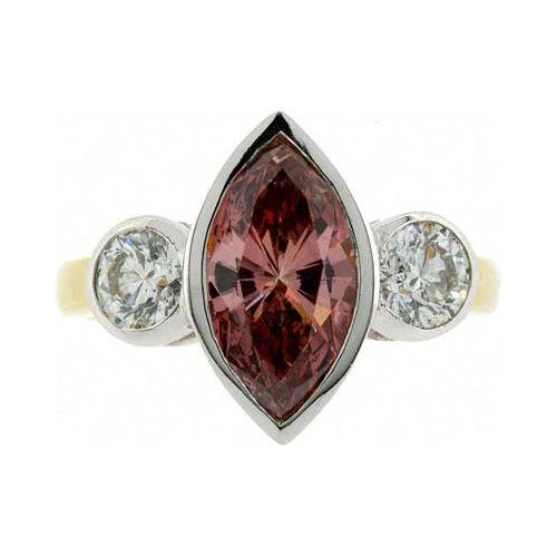 3.20 Karat Pink Diamantring aus 585er Gelbgold gefertigt bei www.juwelierhausabt.de erhältlich.