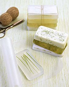 These are such pretty Homemade Grass soaps. I love them! They would make sweet Mother's Day Presents