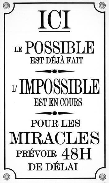 ici, le possible est....