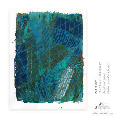 #24 (Study) 11 x 14 in. / 27,9 x 35,6 cm Acrylics on paper Martin Lukas Ostachowski