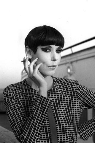 Peggy Moffitt made Sassoons's asymmetrical five-point cut her signature look.