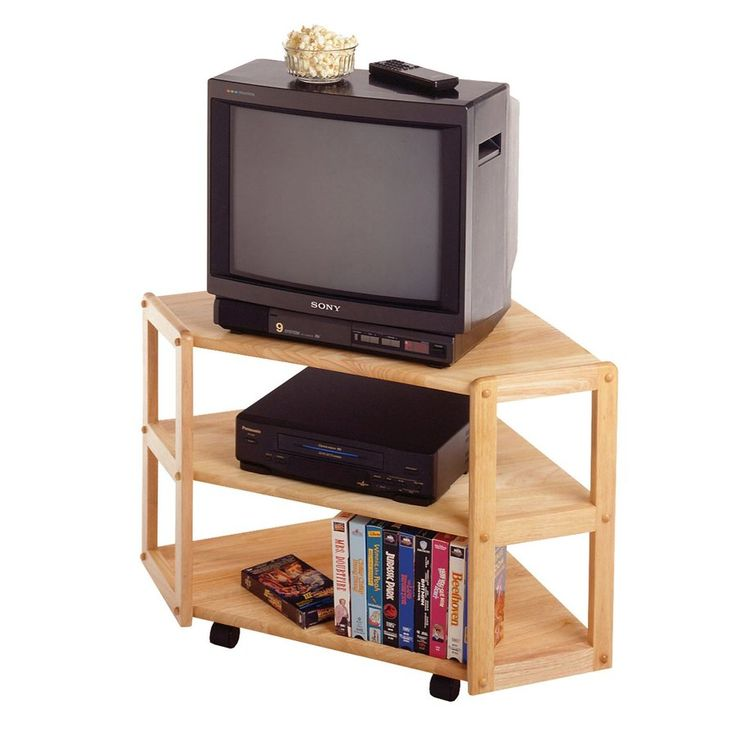 winsome wood natural corner tv stand