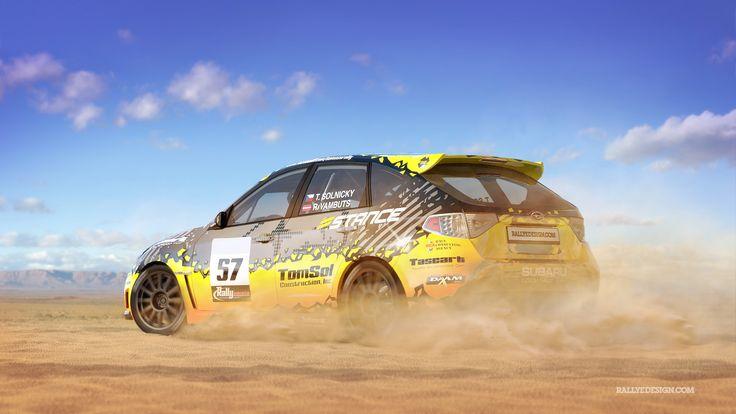 Tomaso Rally Team - T. Solnický - R. Vambuts (Subaru Impreza) - design for Rally America 2015.