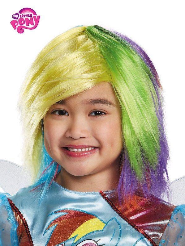 Halloween My Little Pony Rainbow Dash Wig for Girls