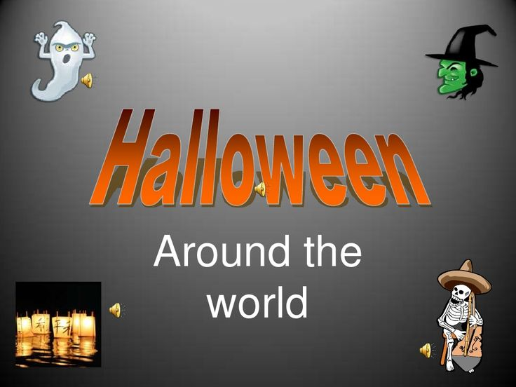 A fun slideshow for your preschool or kindergarten classroom: Halloween Around the World #teaching