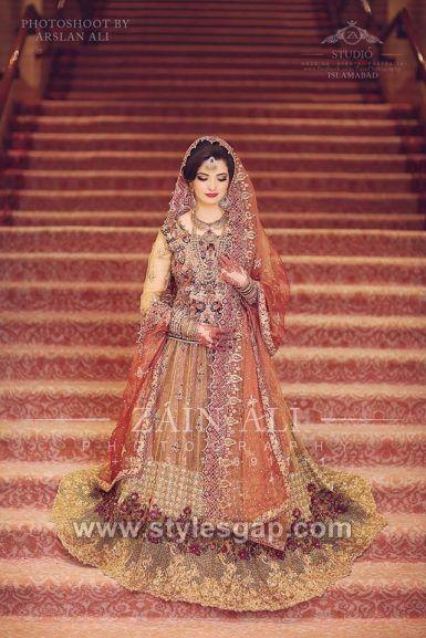80d9486129 Latest Bridal Lehenga Designs Collection for Pakistani Indian & Asian Brides  (7)
