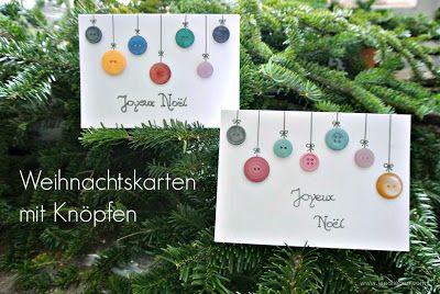 Weihnachtskarten mit Knöpfen