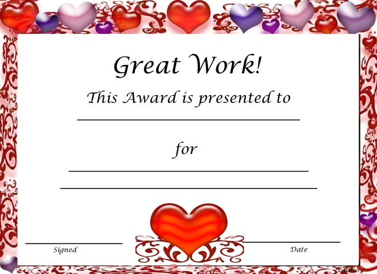 free printable candy award certificates just bcause