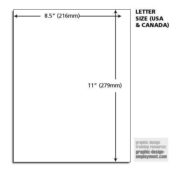 Letter Paper Dimensions