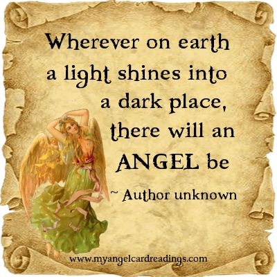 Angel Quote - Image Quote - Inspirational Quote - Uplifting Quote - Angel Saying - Angel Blessing - Angel Poem - Parchment Quote