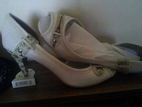 The shoes I upcycled myself.  :)