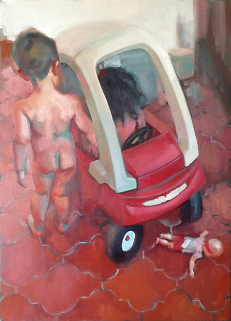 Auto Patricia G. santiago óleo y acrílico sobre tela 70 x 50 x 5 cm Torreón, Coah., México, 2013