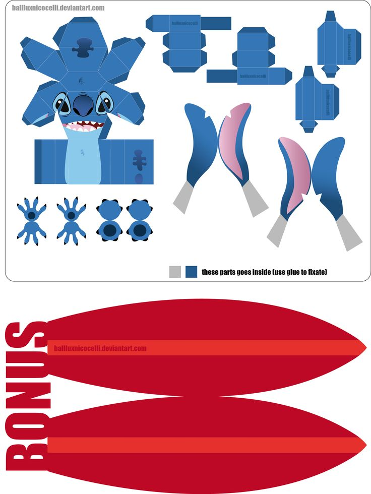Stitch PaperCraft NEW VERSION by ~balluxnicocelli on deviantART