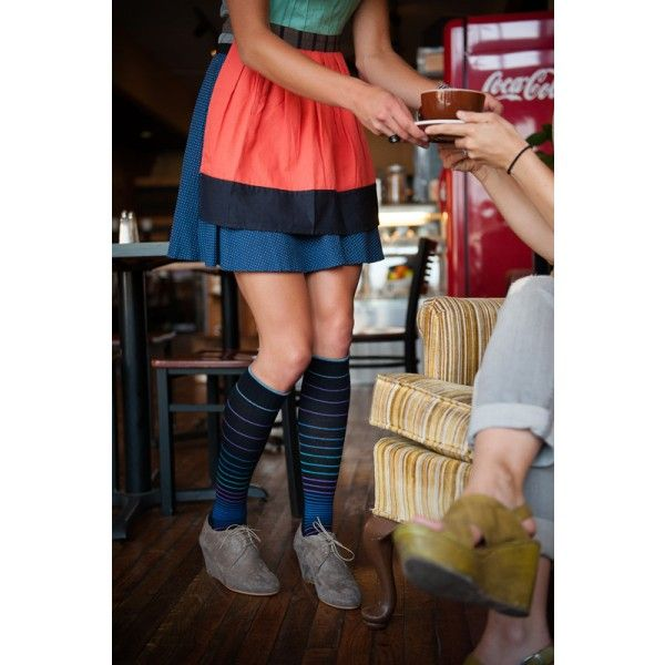 Sockwell Women's Circulator Stripe Compression Sock 15-20 mmHg - BrightLife Go #sockwell #goodhew #stripes #waiter #waitress #restaurant #cook #chef #bartender #barista #server #compressionsocks