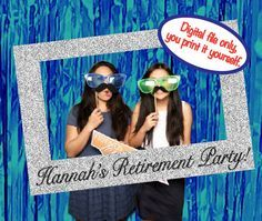 Retirement Party Photo Booth Prop Picture Frame by DamesAndDollies