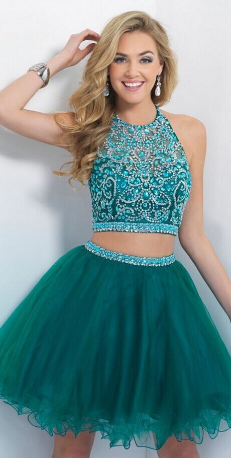 Turquoise Homecoming Dress,Tulle Ho